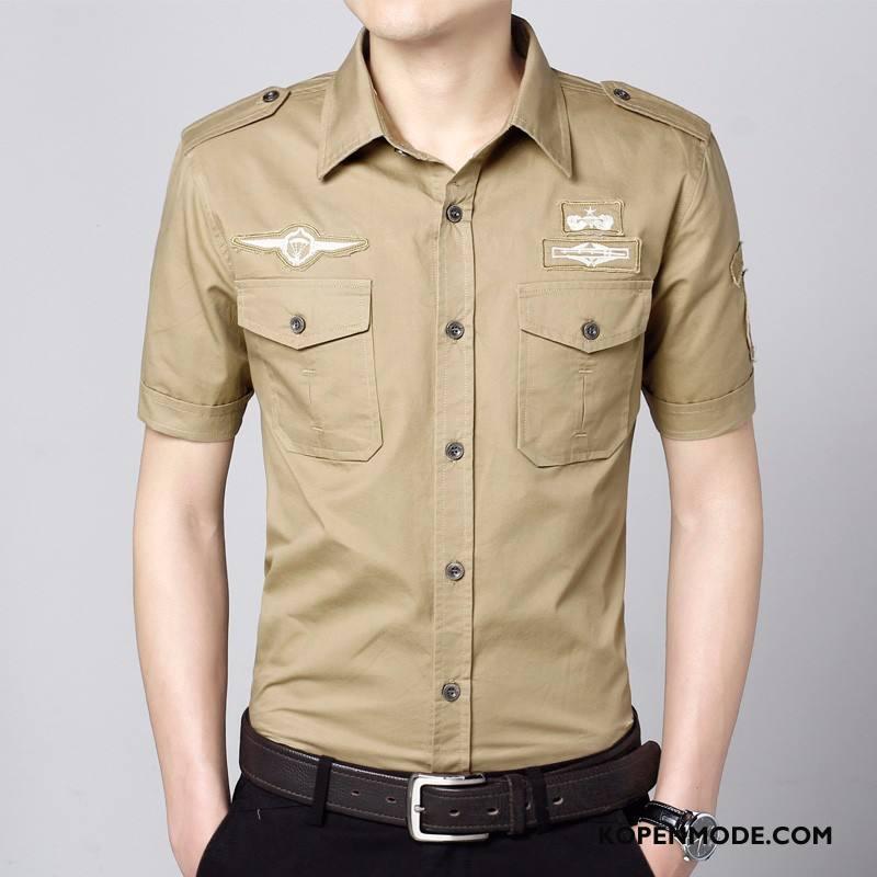 Korte Mouw Overhemd Mannen.Overhemden Heren Cargo Outdoor Grote Maten Korte Mouw Mannen Wassen