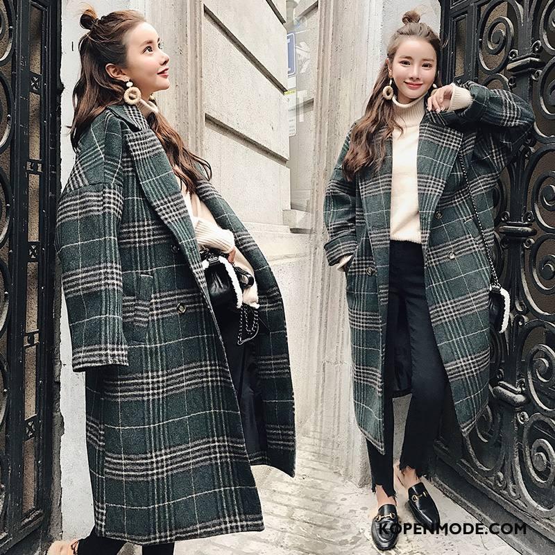 Overjas Dames Pak Polyester 2018 Elegante Winter Jas Wol Legergroene