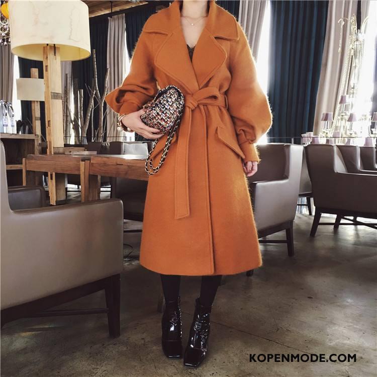 Overjas Dames Winter Stad Jeugd Trend Comfortabele Lange Mouwen Oranje