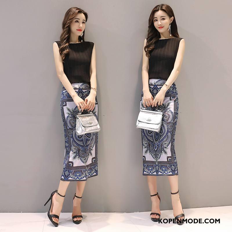 Pakken Dames 2018 Persoonlijk Elegante Eenvoudige Slim Fit Mode Zwart