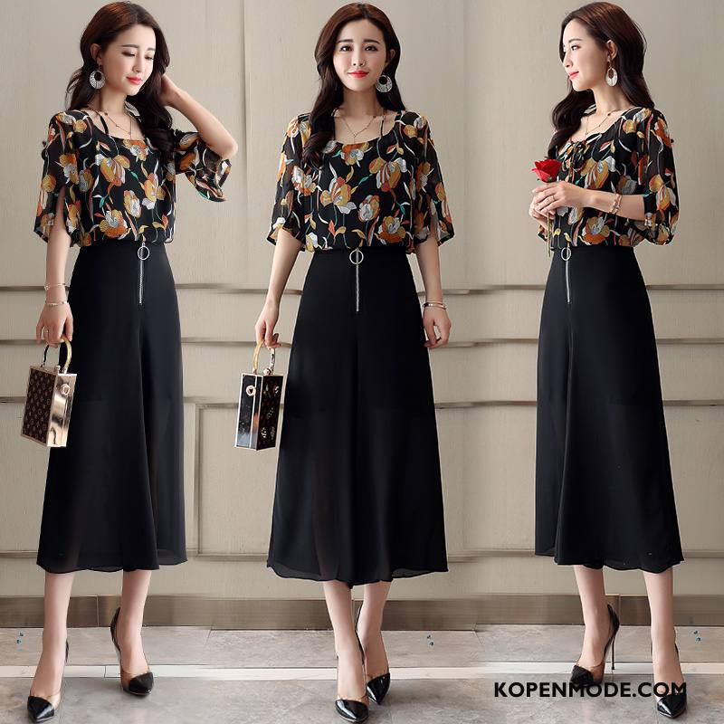 Pakken Dames Mode Slim Fit Casual Comfortabele Dunne Elegante Zwart