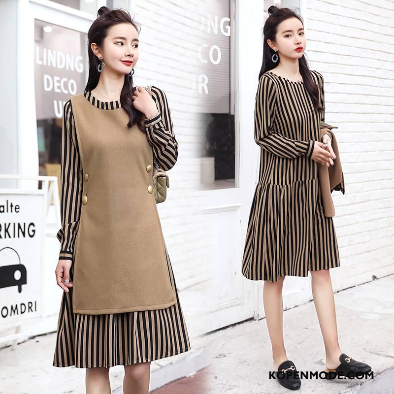 Pakken Dames Trend Mode Elegante Winter 2018 Slim Fit Effen Kleur Kaki