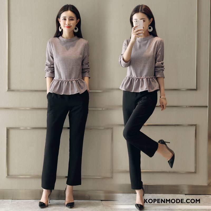 Pakken Dames Verbinding Mode 2018 Elegante Trend Voorjaar Zwart
