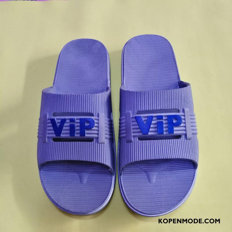 Pantoffels Heren Ademende Mannen Comfortabele Antislip Schoenen Binnen Grijs