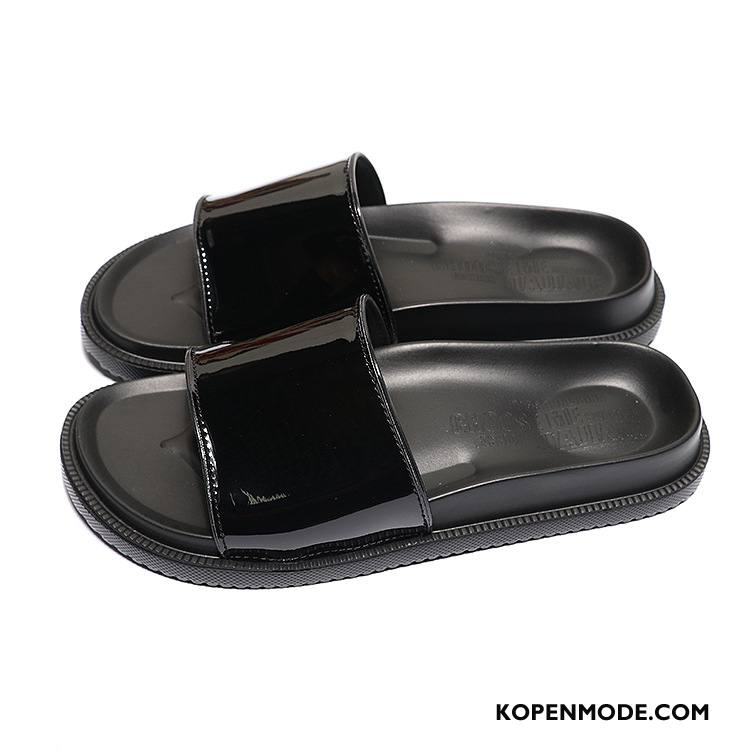 Pantoffels Heren Antislip Strand Mannen Schoenen Outdoor Sandaal Zandkleur Zwart