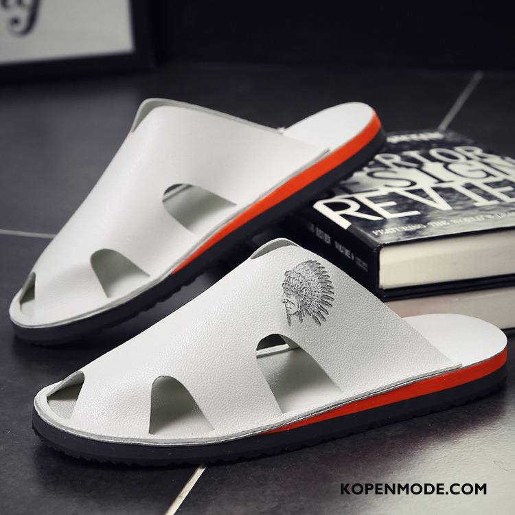 Pantoffels Heren Sandaal Ademende Mode Trend Schoenen Zomer Zandkleur Wit