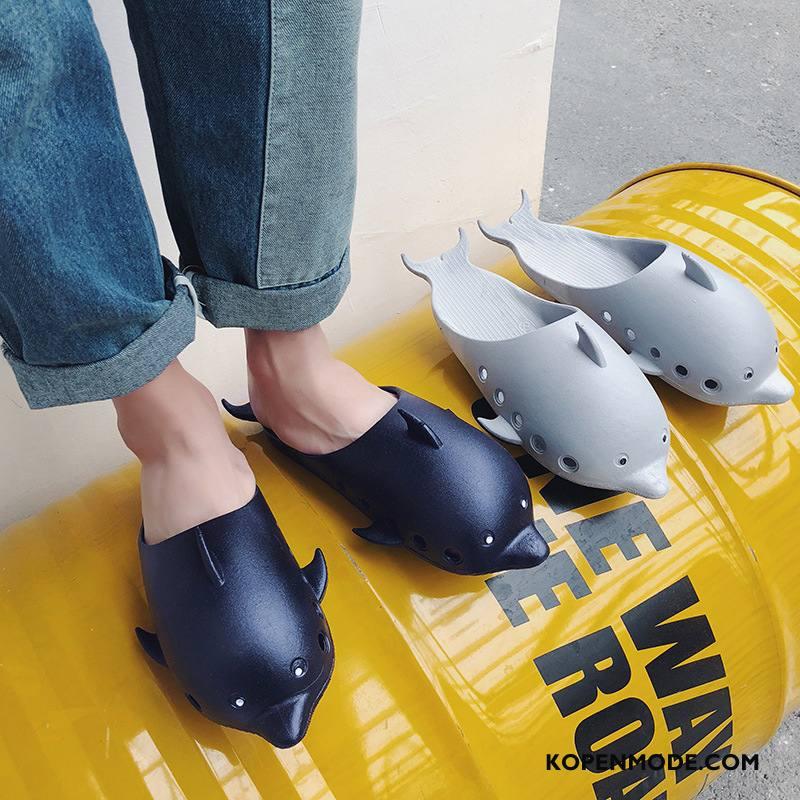 Pantoffels Heren Spotprent Persoonlijk Zomer Mode Mannen Mooie Blauw