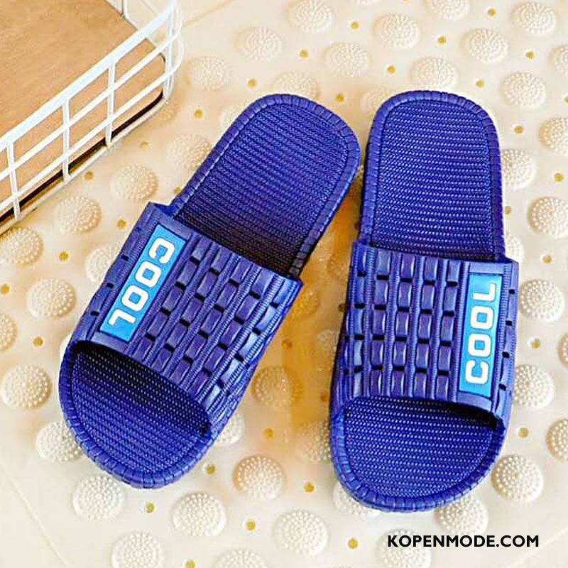Pantoffels Heren Zachte Zolen Zomer Schoenen Antislip Mannen Casual Blauw