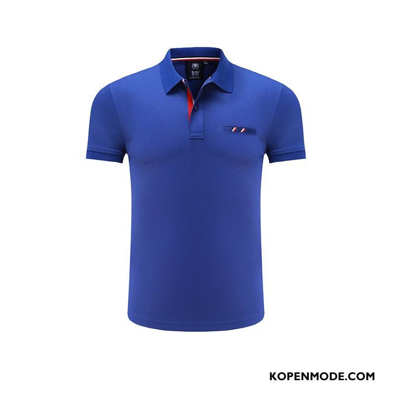 Polo Heren Cargo Zak Nieuw Zomer Revers Werkkleding Marineblauw