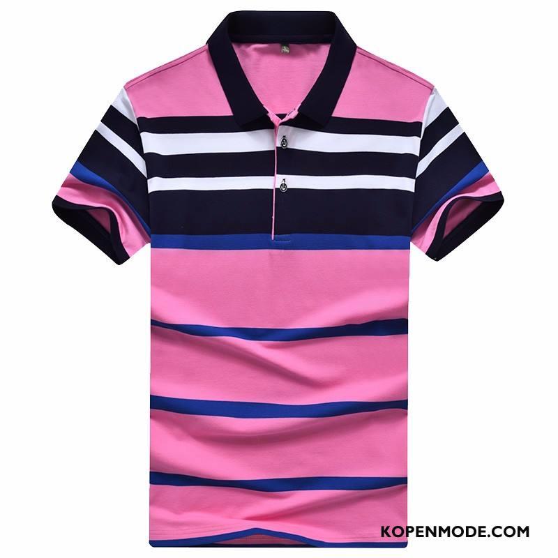 Polo Heren Korte Mouw Roze Rood