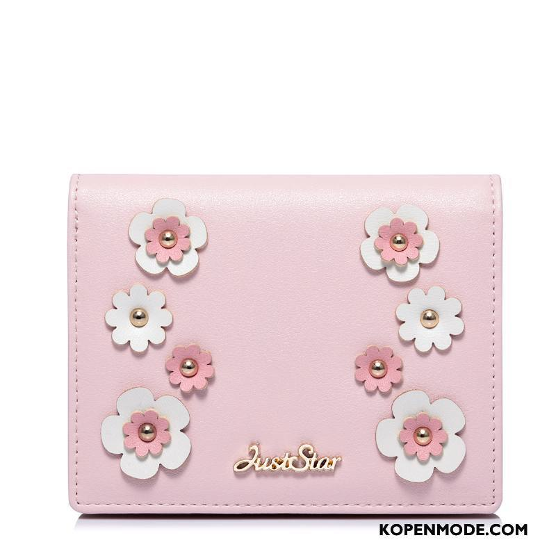 Portemonnee Dames Korte Vrouwen Mode Tas Hand Nieuw Roze