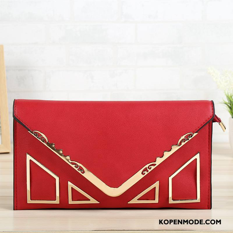 Portemonnee Dames Pu Nieuw Tas Hand Mode Rugzak Rood