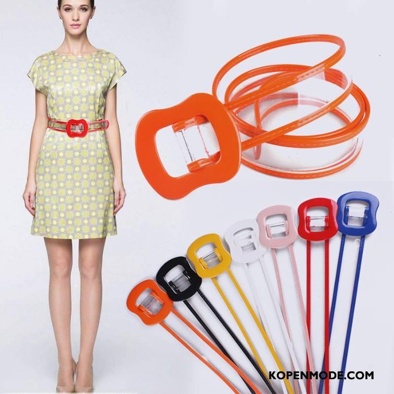 Riemen Dames Vrouwen Decoratie Persoonlijkheid Eenvoudig Mode Doorzichtig Rood