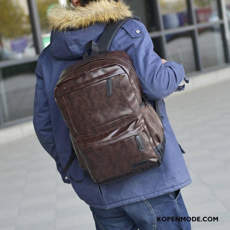 Rugzak Heren Nieuw Tas Mode Reizen Mannen Casual Bruine