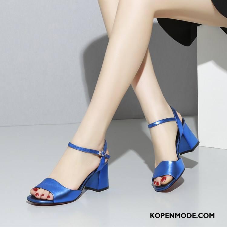Sandalen Dames 2018 Vrouwen Comfortabele Schoenen Sandaal Zomer Blauw