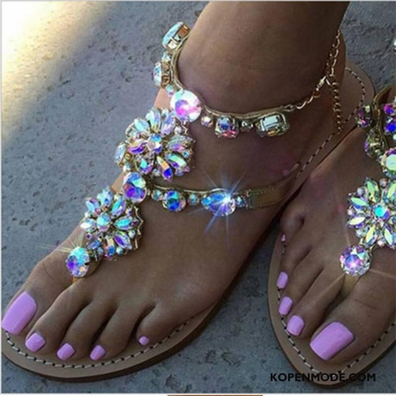 Sandalen Dames Vrouwen Hete Verkoop Met Strass Sandaal Gouden