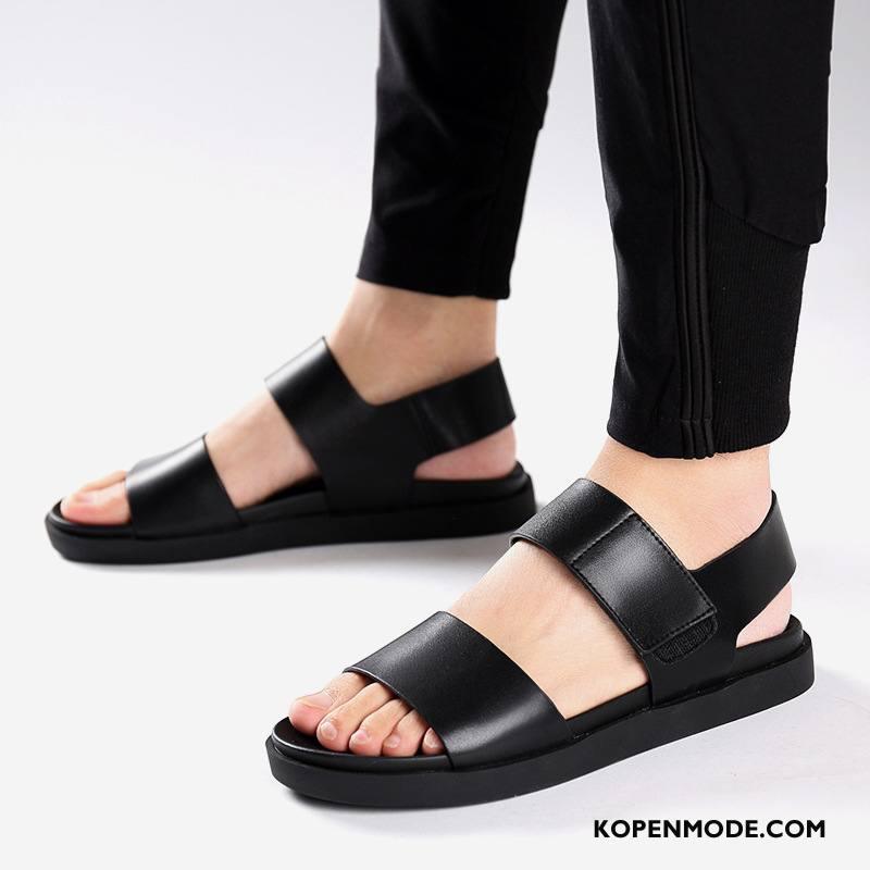 Sandalen Heren Casual Zomer Mode Trend 2018 Outdoor Zandkleur Zwart