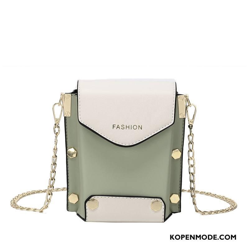 Schoudertas Dames Zomer Elegante Mini Vintage Messenger Tas Ketting Groen