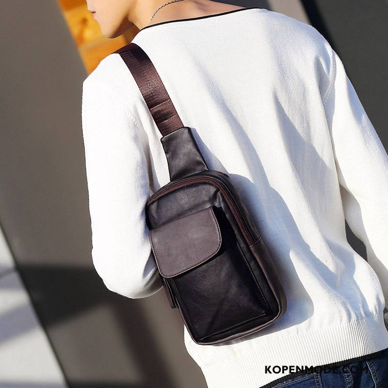 Schoudertas Heren 2018 Mode Trend Heuptas Mannen Zwart