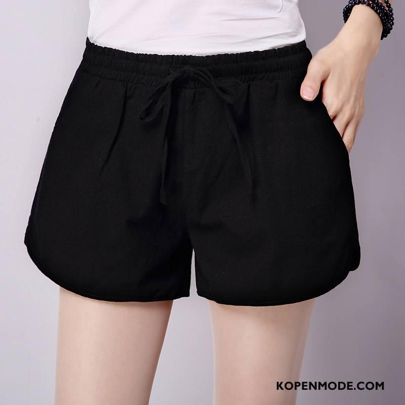 Shorts Dames Korte Broek Eenvoudige Vrouwen Zomer Nieuw Trend Effen Kleur Zwart