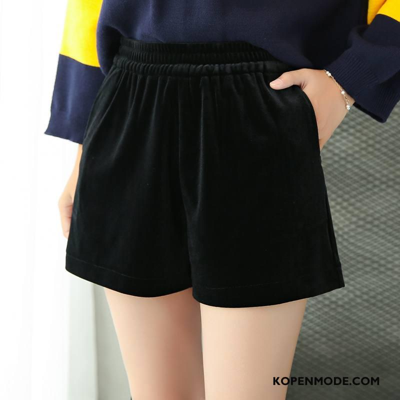 Shorts Dames Korte Broek Voorjaar Mode Eenvoudige Straat Elegante Zwart