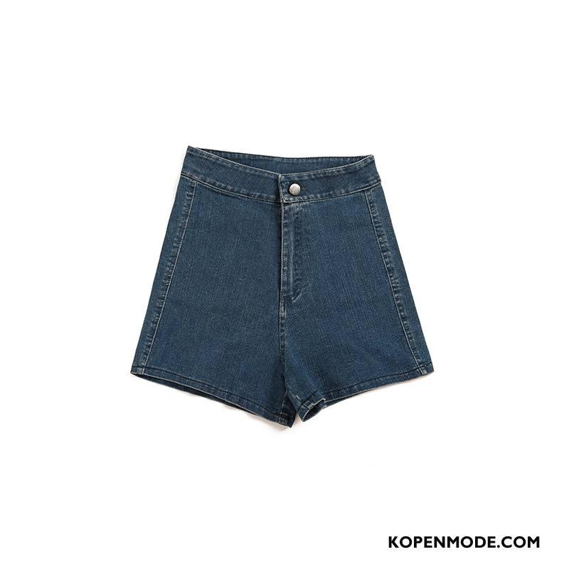 Shorts Dames Lage Taille Dunne Hete Broek Vrouwen Nieuw Hoge Donkerblauw Zwart