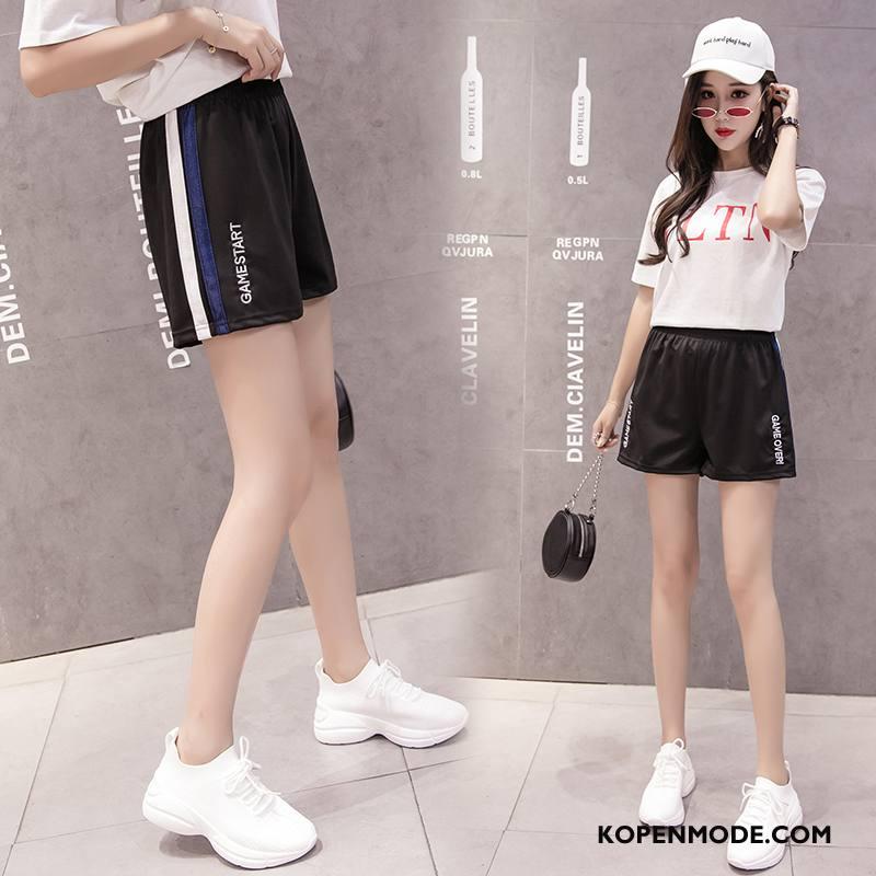 Shorts Dames Mode Zomer Elegante Casual Scheppend Trend Zwart
