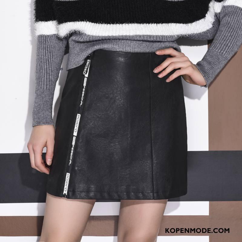 Shorts Dames Straat Herfst Mode Mooi 2018 Trend Zwart