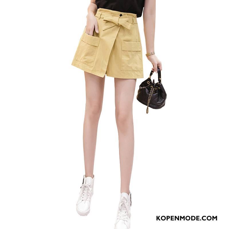 Shorts Dames Trend Vrouwen Casual Nieuw Mode Zomer Geel
