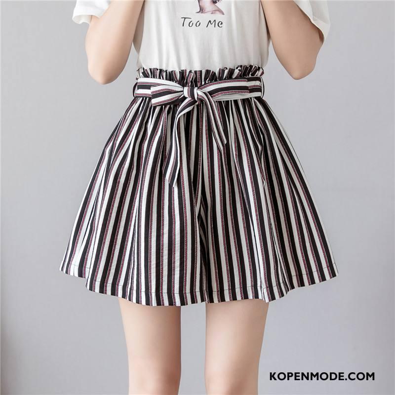 Shorts Dames Vrouwen Hoge Taille Casual Korte Broek Zomer Bloemen Zwart