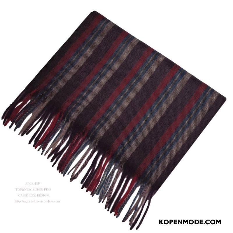 Sjaals Heren Blending Vintage Fluweel Mannen Kwasten Stijl Blauw Paars Rood Grijs