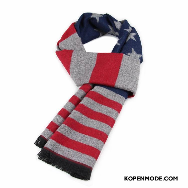 Sjaals Heren Blijf Warm Mannen Alle Wedstrijden Winter Jong Student Rood