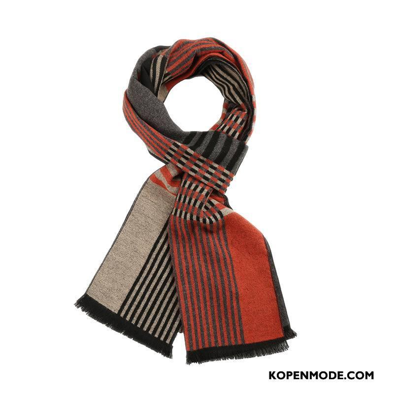 Sjaals Heren Mode Nieuwe Slabbetje Streep Lange 2018 Oranje