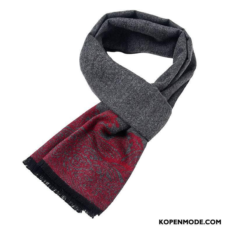 Sjaals Heren Nieuw Mode Alle Wedstrijden Mannen Zijde Fluweel Grijs
