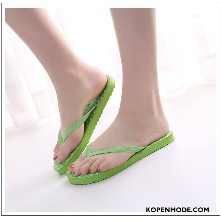 Slippers Dames Mode Schoenen Bovenkleding Vrouwen Antislip Pantoffels Zandkleur Groen
