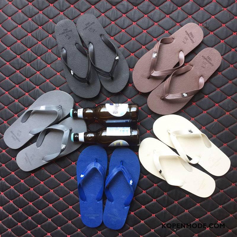 Slippers Heren Mannen Antislip Schoenen Bovenkleding Pantoffels Zandkleur Zwart
