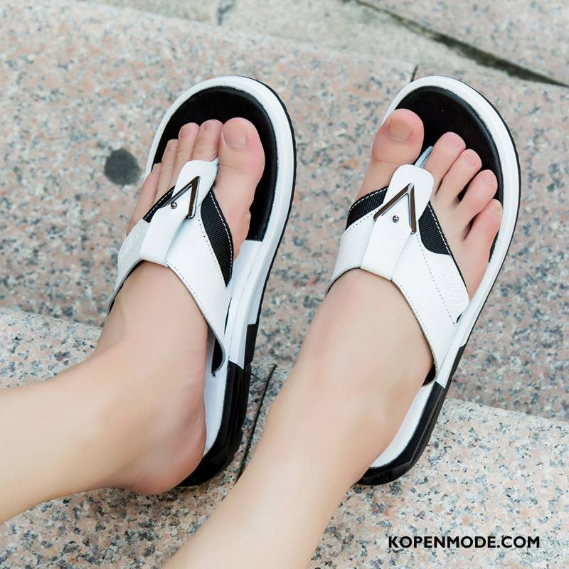 Slippers Heren Persoonlijk Antislip Bovenkleding Zomer Schoenen Trend Zandkleur Wit