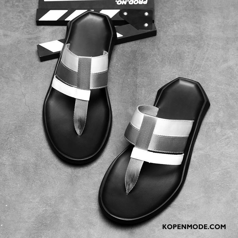 Slippers Heren Persoonlijk Pantoffels Mode Gebreide 2018 Trend Zandkleur Zwart