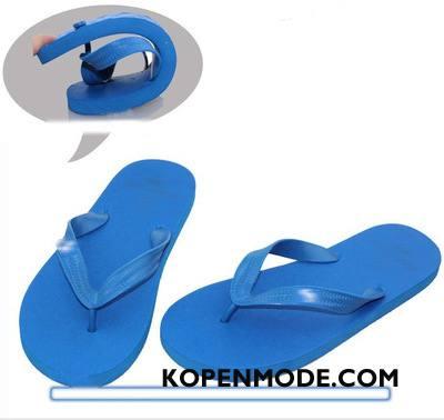 Slippers Heren Zomer Pantoffels Antislip Mannen Blauw Zandkleur