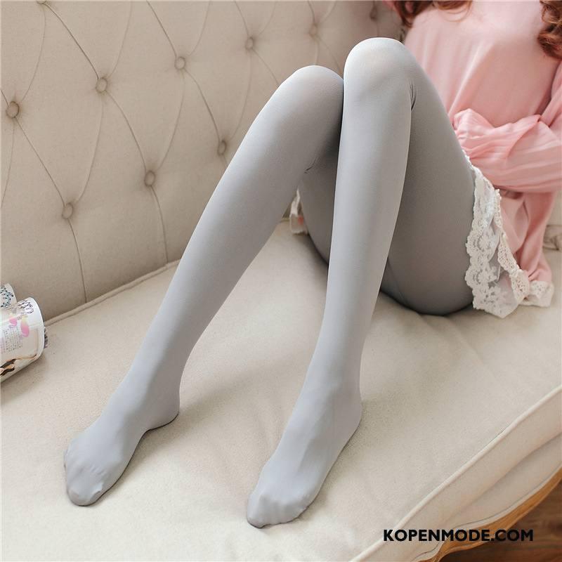 Sokken Dames Fluweel Herfst Voorjaar Kous Panty Vrouwen Grijs Donker