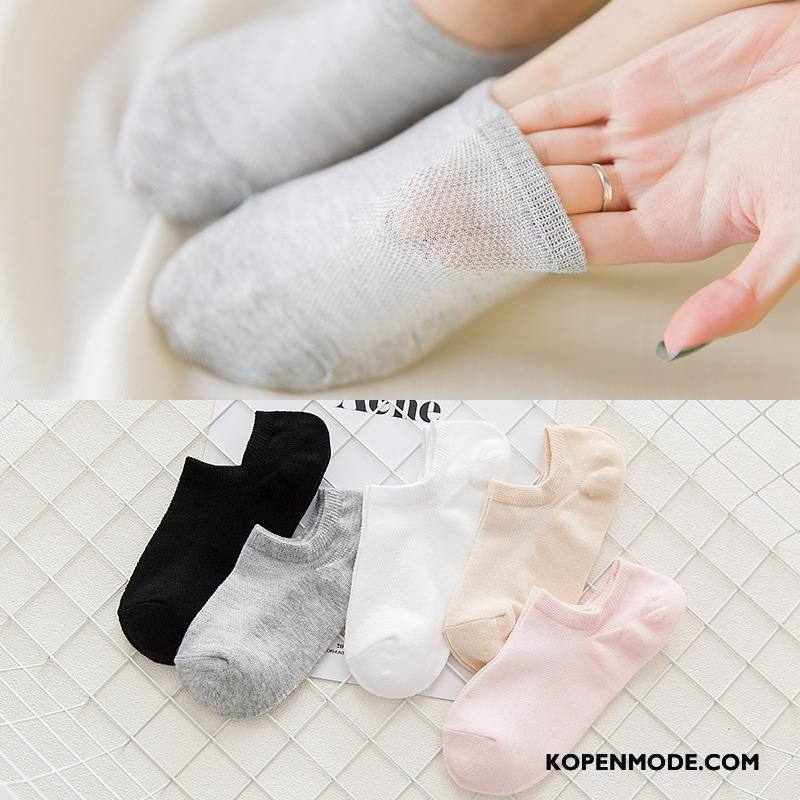 Sokken Dames Vers Vrouwen Zomer Mesh Sokken Ademend Nieuw Grijs