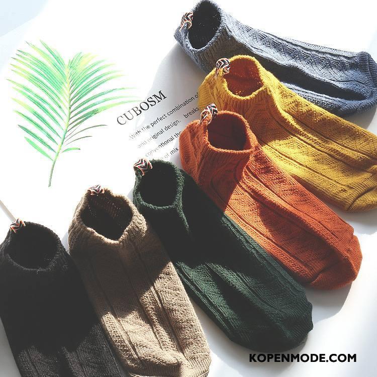 Sokken Heren Boot Sokken Zomer Korte Sok Nieuwe 100% Katoen Voorjaar