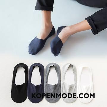 Sokken Heren Boot Sokken Zomer Silicone Nieuw 100% Katoen Antislip Blauw