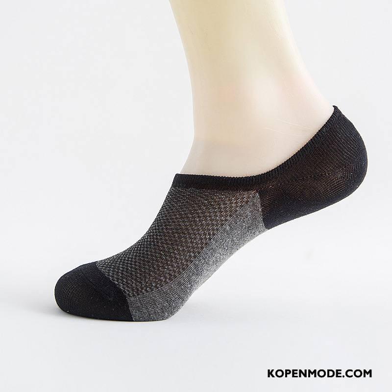 Sokken Heren Heimelijkheid Silicone Streep Boot Sokken Antislip Maas Zwart Beige