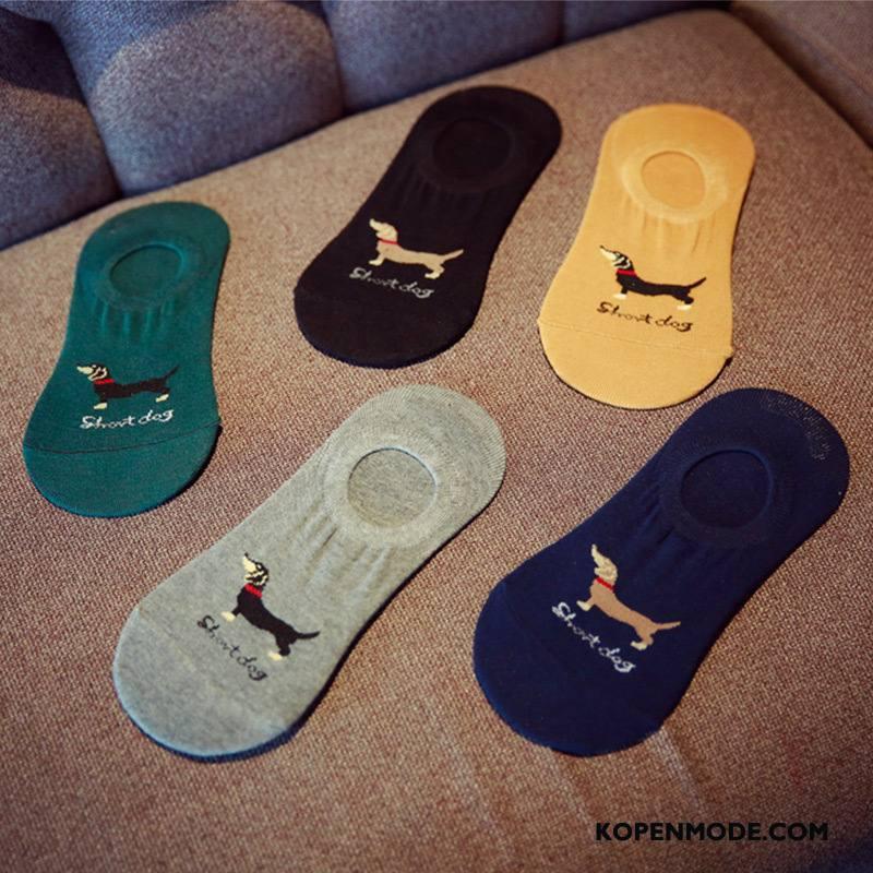 Sokken Heren Silicone Mannen Antislip Boot Sokken Katoenen Sokken Ademend Effen Kleur Zwart Licht