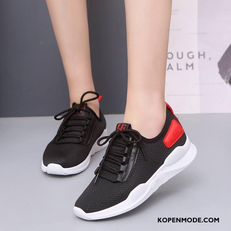 Sportschoenen Dames Ademende Mode Casual Loopschoenen Trend Student Zwart