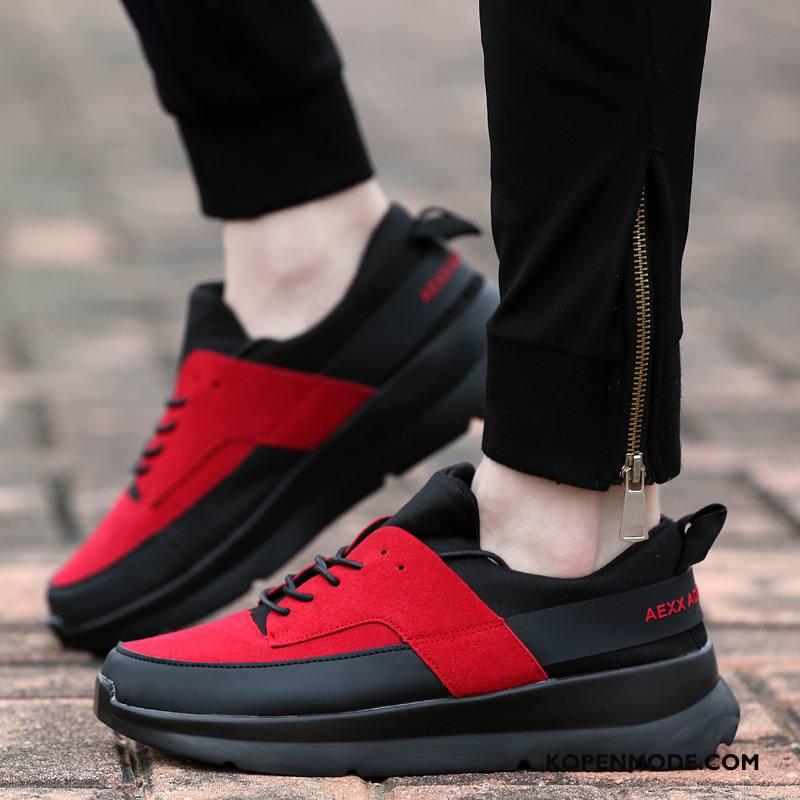 Sportschoenen Dames Skateboard Schoenen Mannen Casual Verhogende Trend Lovers Rood Zwart