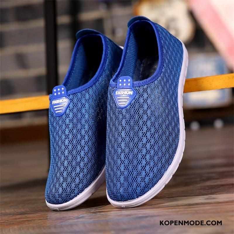 Sportschoenen Heren Ademende Textiel Loopschoenen Mannen Maas Comfortabele Blauw