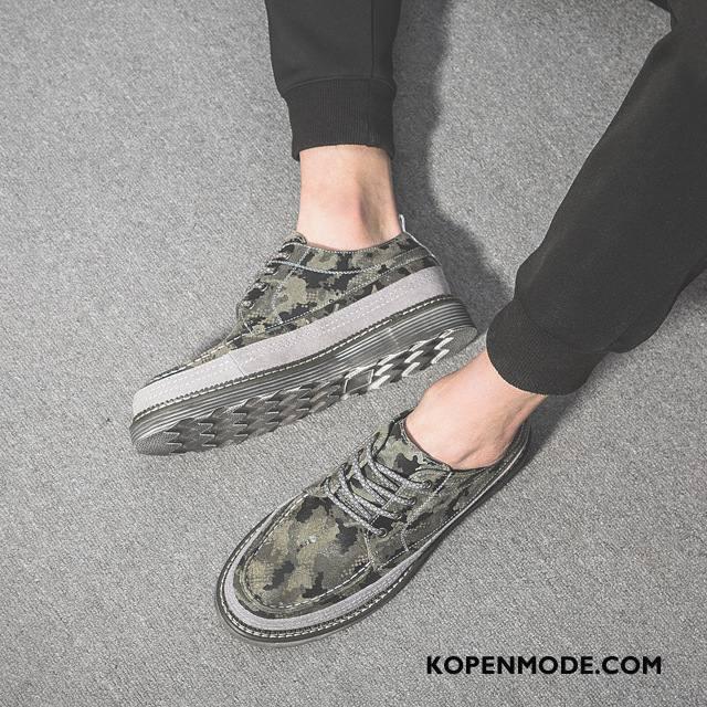 Sportschoenen Heren Brits Voorjaar 2018 Skateboard Schoenen Trend Casual Camouflage Groen
