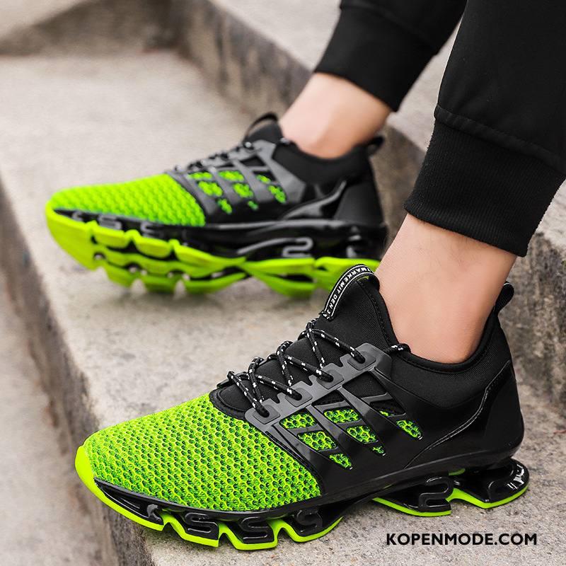 Sportschoenen Heren Casual Mannen Lichte Zomer Ademende Loopschoenen Groen